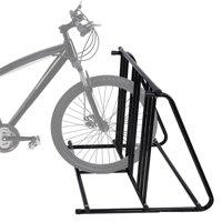 LHCER Bike Parking Rack Stand Bicycle Storage Floor Mount Iron Pipe Cycle Holder, Bike Parking Rack, Bicycle Rack