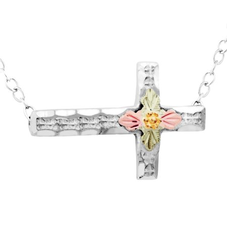 on Silver Horizontal Cross Necklace