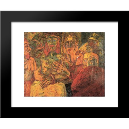 Mocking of Christ 20x24 Framed Art Print by Nolde, Emil