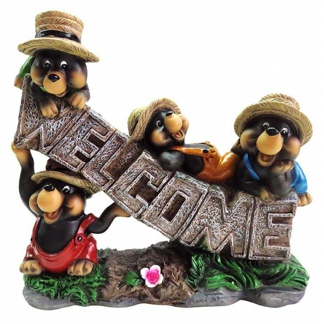 Alpine SLV290HH 9 in. Welcome Bear Statuary