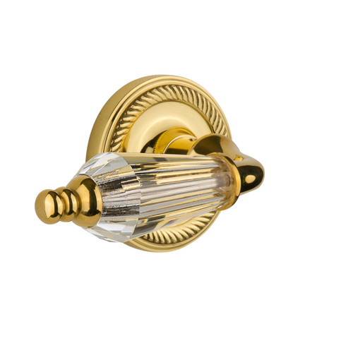 Nostalgic Warehouse Parlour Privacy Door Lever with Rope Rosette