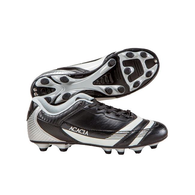 Acacia STYLE -37-865 Thunder Soccer Shoes - Black and Silver, 6.5Y