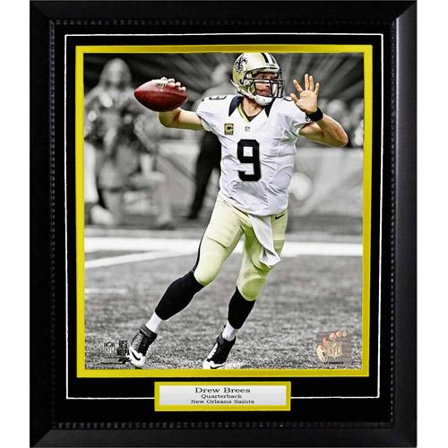 "NFL 20"" x 24"" Deluxe Frame, Drew Brees New Orleans Saints"