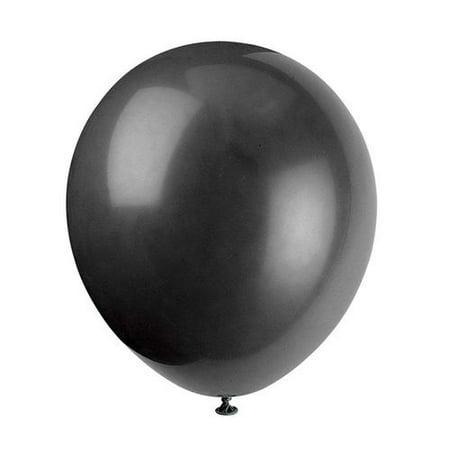 """9"""" Latex Jet Black Balloons for Party Decoration, 20 Pieces - image 1 de 2"""