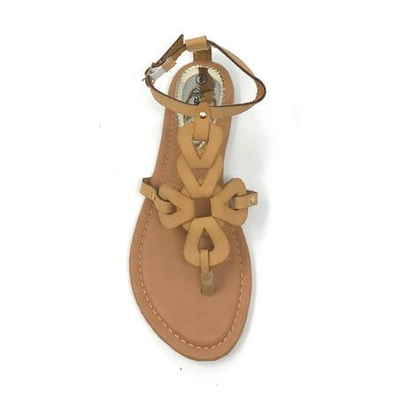 Victoria K Women's Gladiator Multi Loops Crossover Sandals
