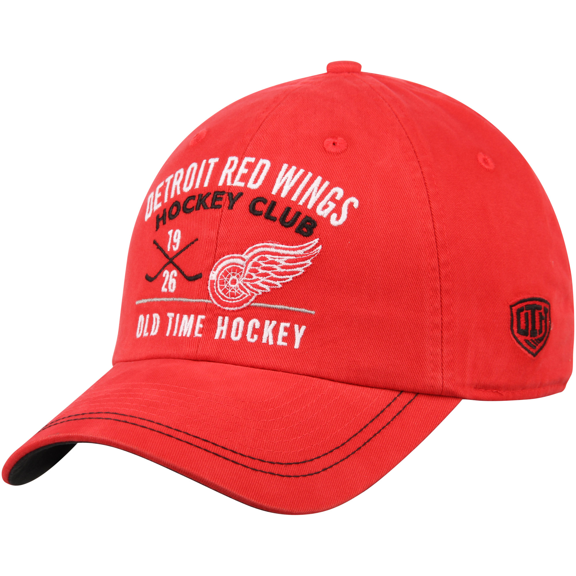 Detroit Red Wings Old Time Hockey Dover Slouch Adjustable Hat - Red - OSFA
