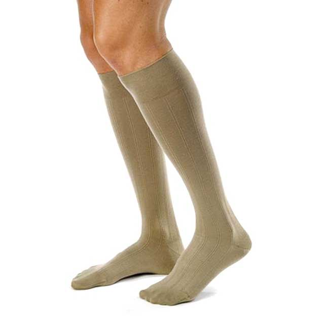 Jobst forMen Casual 30-40 mmHg L-Tall Khaki Knee High