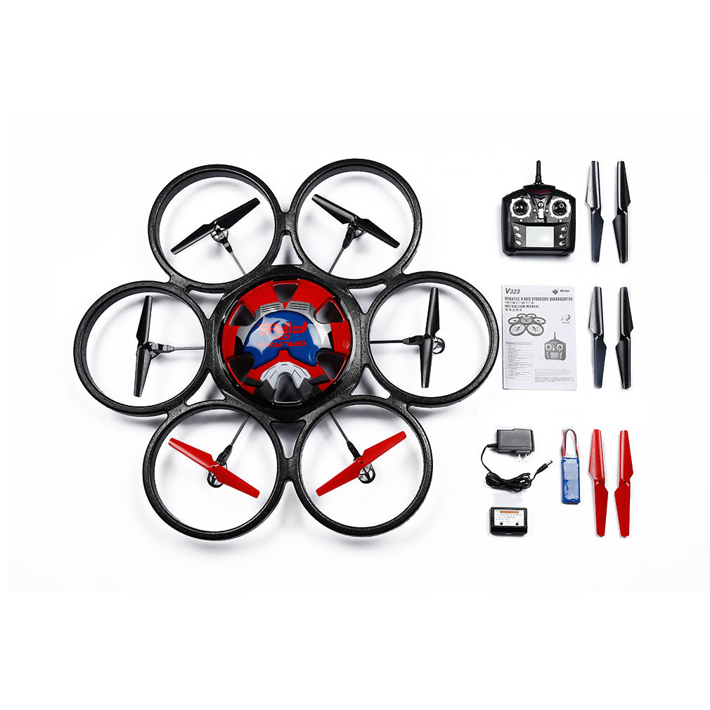 2.4GHz 4Ch 6 Axis Quadcopter RC Drone Ready to Fly Battery for Wltoys