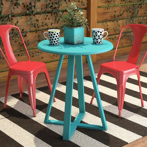 Ebern Designs Harrigan Metal Bistro Table