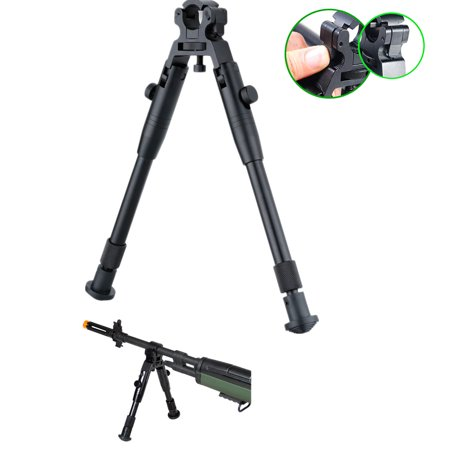 Excelvan 8 inches - 10 inches Barrel Adjustable Foldable Tactical Bipod Rifle Bipod Fore spring legs Mount