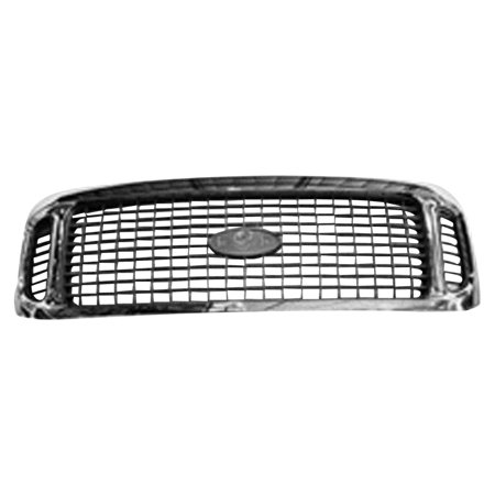 CPP Chrome Shell w/ Gray Insert Grille FO1200448 for 2002-2004 Ford (Shell Precision Grilles)