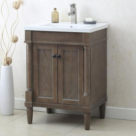 24 Hardwood Vanity (Legion WLF7021 Free Standing 24 in. Single Vanity )