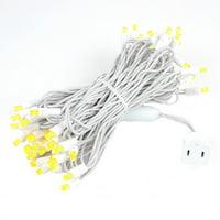 Novelty Lights 50 Light LED Christmas Mini Light Set, Outdoor Lighting Wedding Patio String Lights, White Wire, 25 Feet