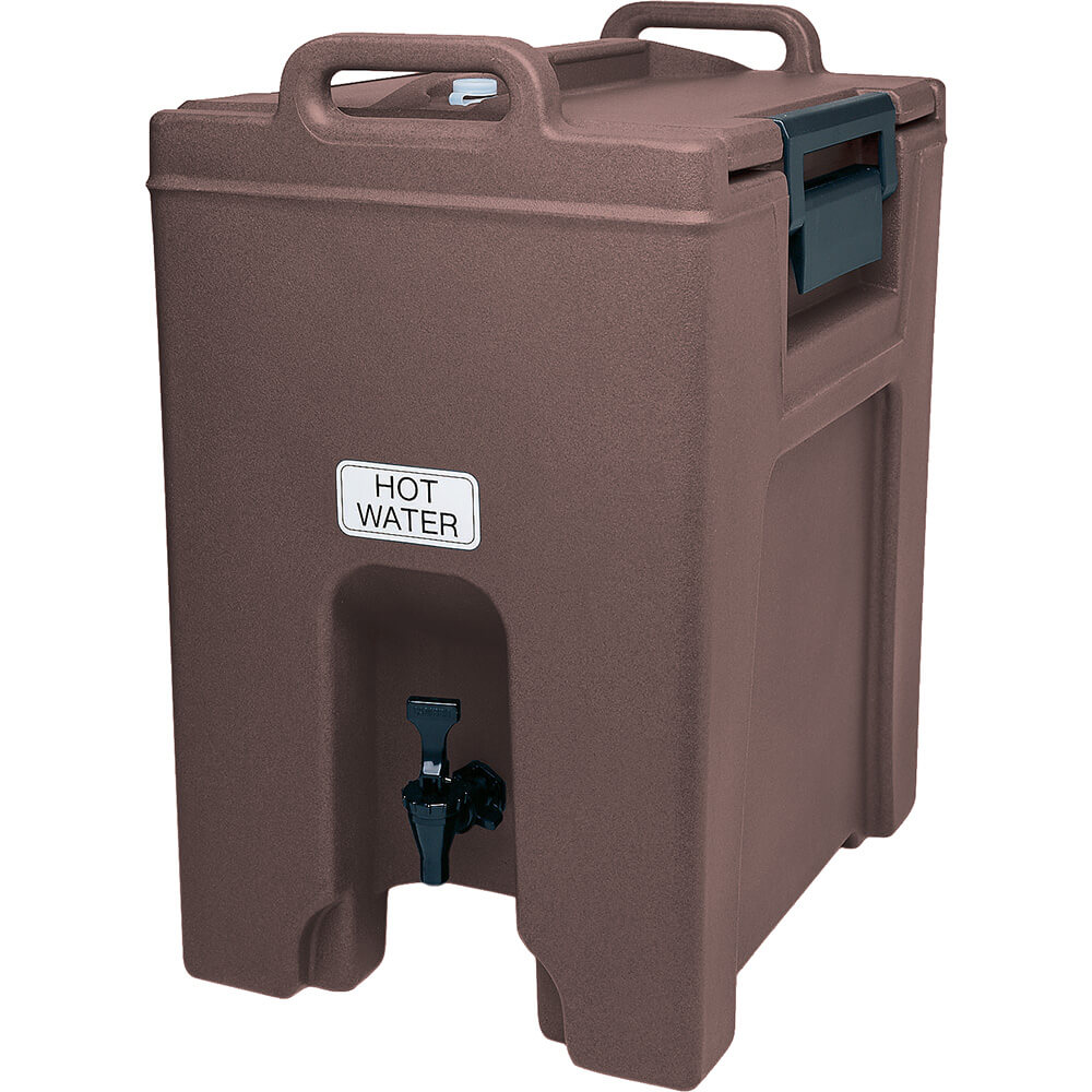 Cambro 10.5 Gal. Insulated Beverage Dispenser, Ultra Camtainer, Dark Brown, UC1000-131