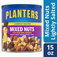 Planters Lightly Salted Mixed Nuts, 15.0 oz Canister