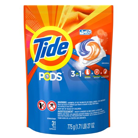 Tide Pods Original Scent He Turbo Laundry Detergent Pacs  31 Count
