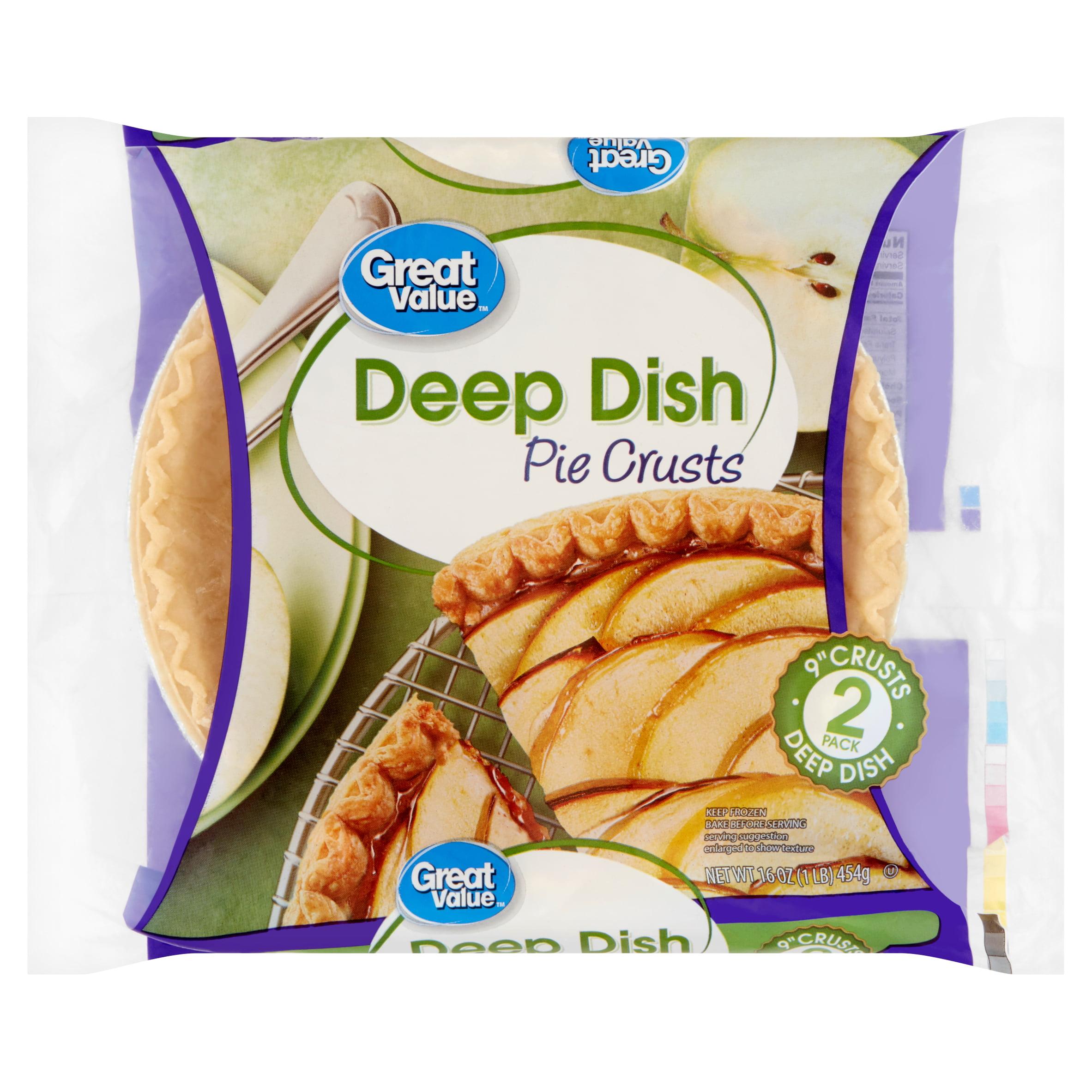 Great Value Deep Dish 9 Pie Crusts 2 Count 16 Oz Walmart Com Walmart Com