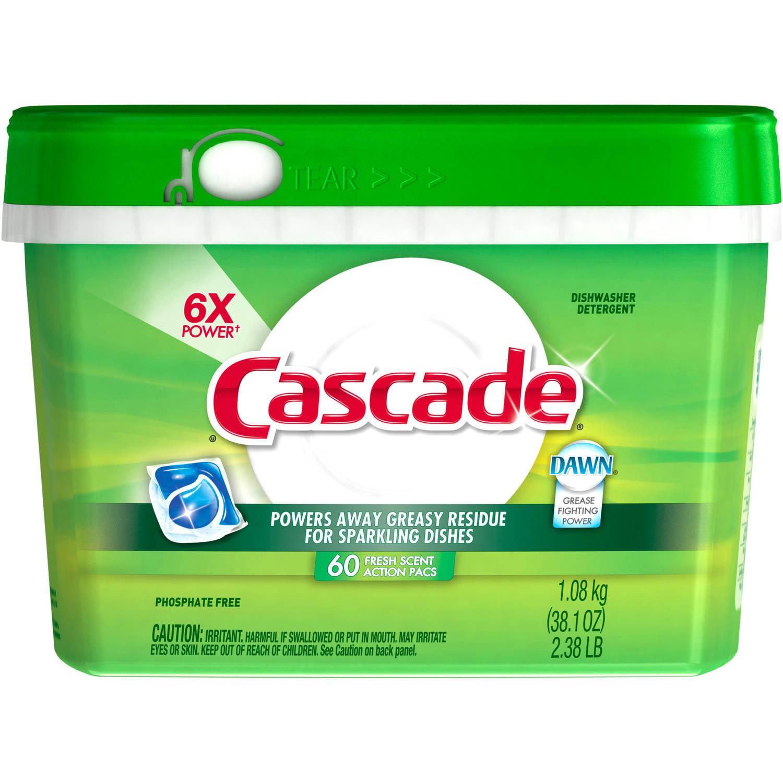 Cascade Actionpacs Fresh Scent Dishwasher Detergent (choose your size)