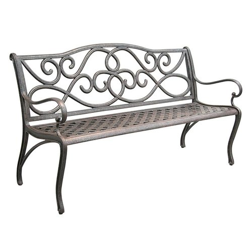 Innova C631-71 Outdoor 5-ft Scroll Cast Aluminum Bench