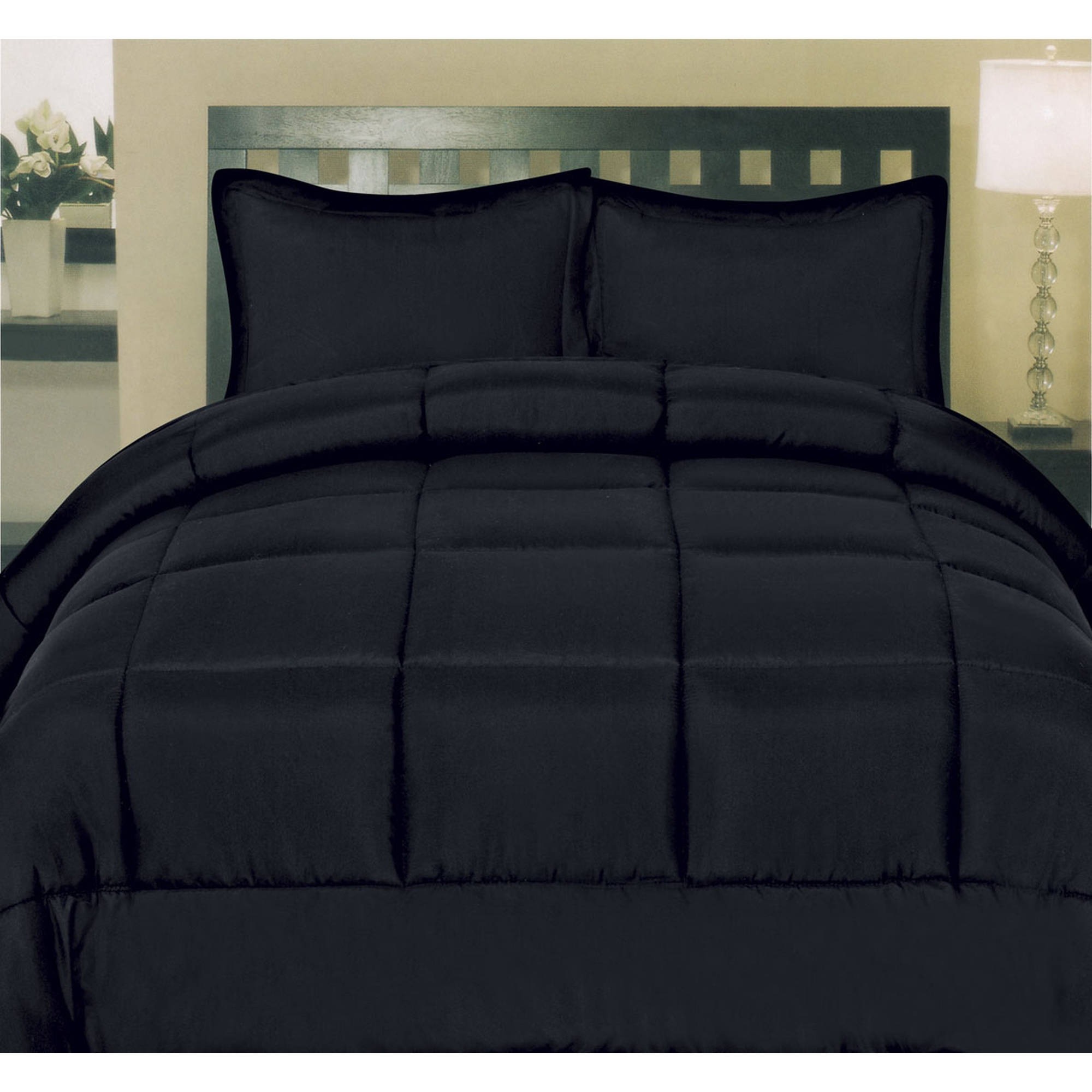 Solid Color Box Stitch 100 Percent Polyester Down Alternative Comforter