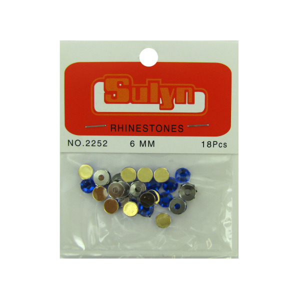 Sapphire Rhinestones With Mounts (Pack Of 24)