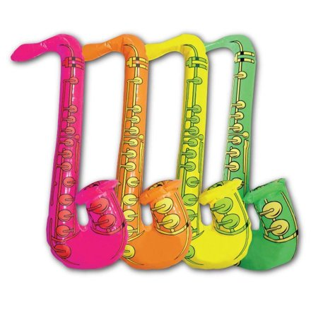 Inflatable Saxophone Rock & Roll Fancy Dress Accessories Party Bag Fillers Toys
