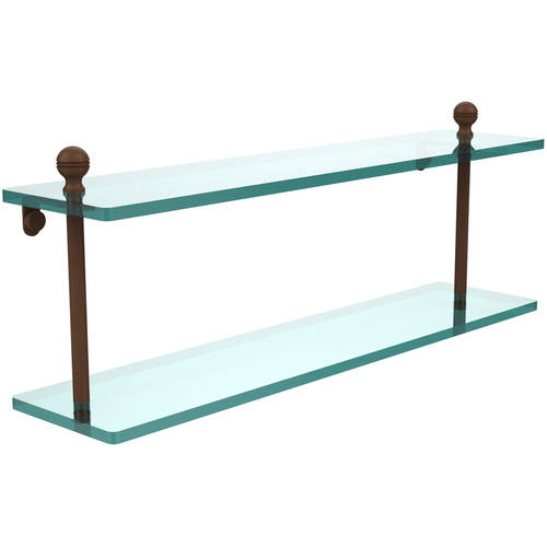 """Mambo Collection 22"""" 2-Tiered Glass Shelf (Build to Order)"""