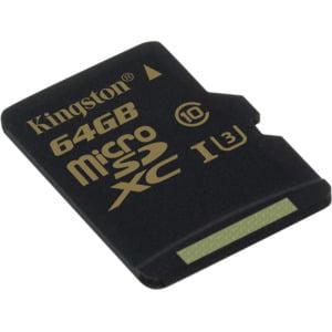 Kingston 64GB microSDXC Class U3 UHS-I 90R/45W Single Pack w/o Adapter