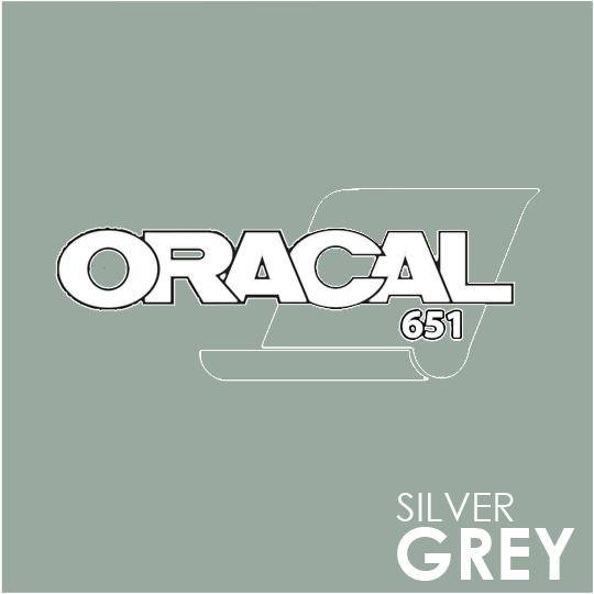 ORACAL 651 Vinyl Roll of Glossy Silver Grey - Includes Free Multi-Purpose Squeegee - Choose Your Size