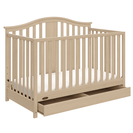 graco solano 4 in 1 convertible crib with drawer driftwood. Black Bedroom Furniture Sets. Home Design Ideas