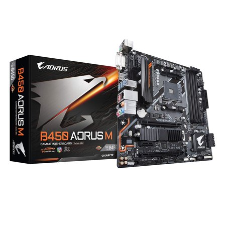 Aorus Ultra Durable B450 AORUS M Desktop Motherboard - AMD B450 Chipset - Socket - B450 Port