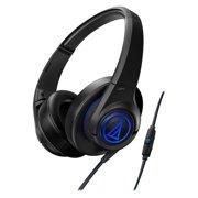 Audio-technica Sonicfuel Premium Headphone + Mic & Volume Ax5isbk - Stereo - Black - Mini-phone - Wired - 55 Ohm - 5 Hz - 25 Khz - Gold Plated - Over-the-head - Binaural - Circumaural - (ath-ax5isbk)