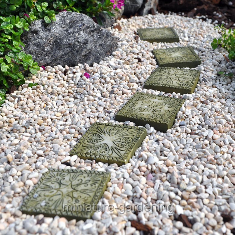 Nice Georgetown Home U0026 Garden Stepping Stones, Ancient Square, Set Of 6 For  Miniature Garden