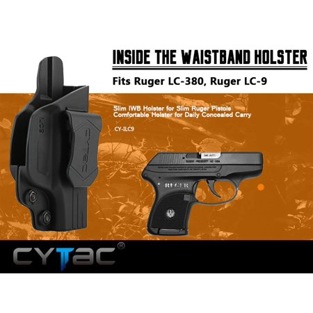 CYTAC Inside the Waistband Holster | Gun Concealed Carry IWB Holster | Fits RUGER LC9 /