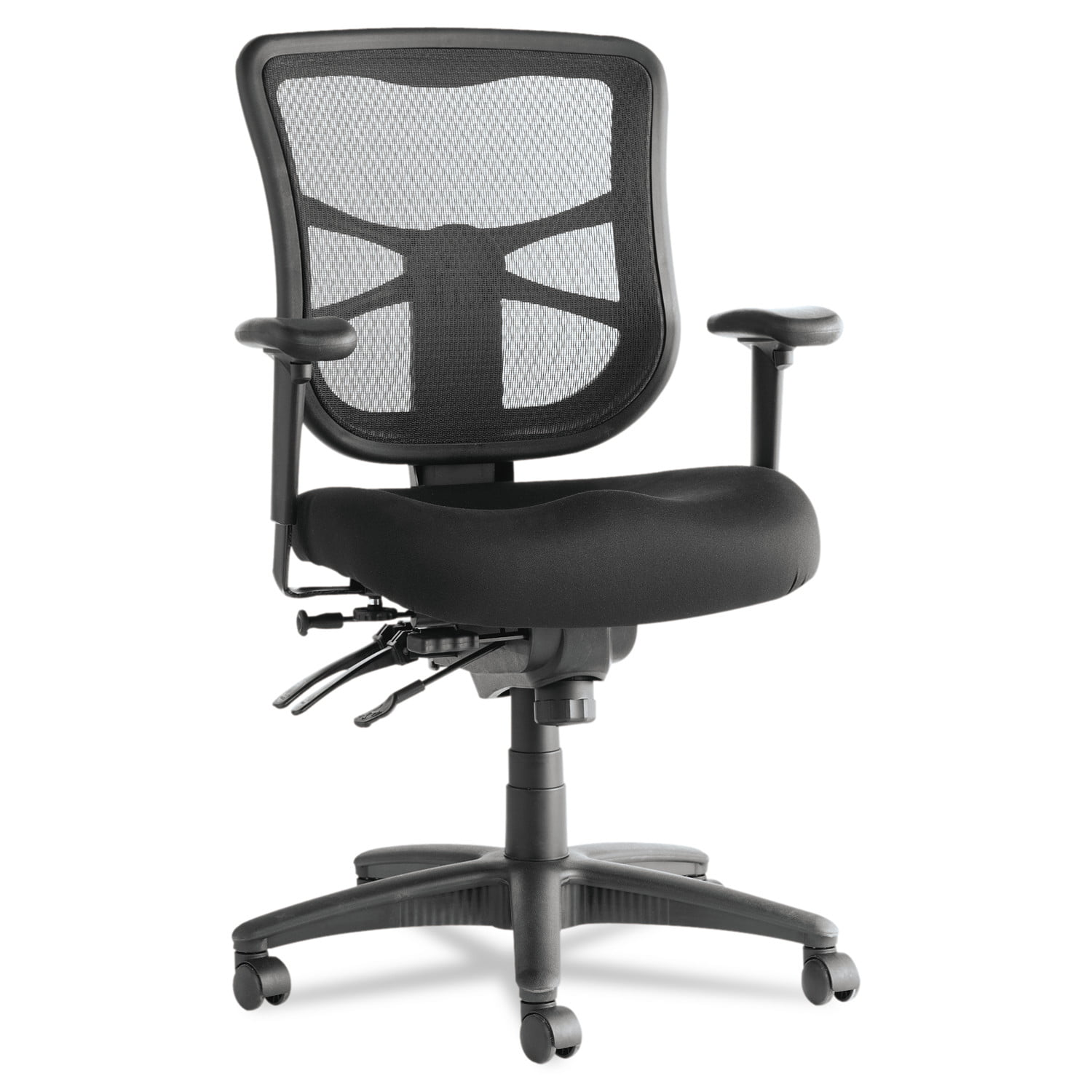 Alera Elusion Series Mesh Mid-Back Multifunction Chair, Black by ALERA