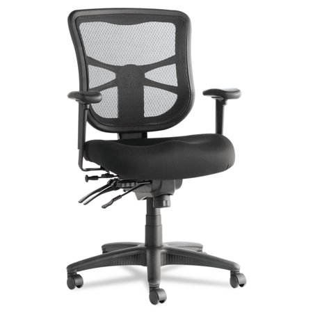 Alera Elusion Series Mesh Mid-Back Multifunction Office Chair, Black
