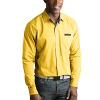 Los Angeles Chargers Antigua Division Woven Long Sleeve Button-Up Shirt - Gold