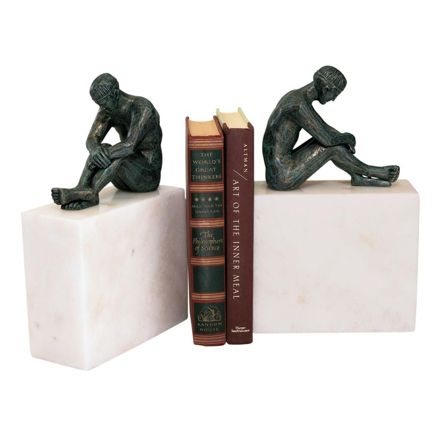 Contemplation of Man Sculpture: Set of Two by Design Toscano