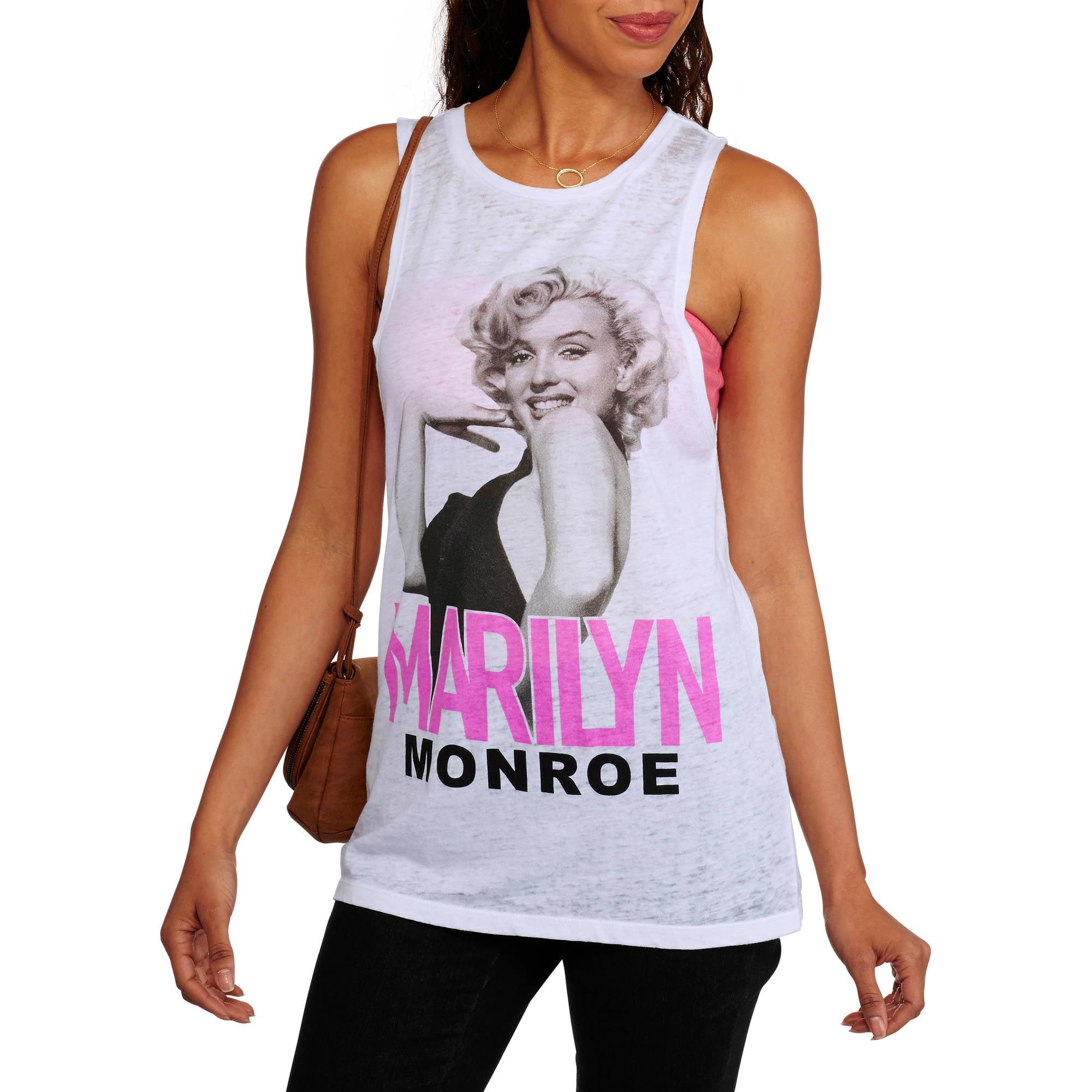Marilyn Monroe Juniors' Graphic Burnwash Tank