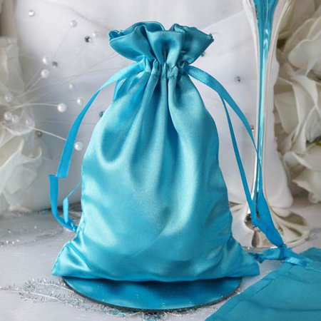 Bridal Party Jewelry Gifts - Efavormart 60PCS Satin Gift Bag Drawstring Pouch for Wedding Party Favor Jewelry Candy Solid Satin Bags - 5