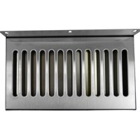 "Draft Warehouse 14"" X 6"" SS Draft Beer Drip Tray With Drain , Counter Top, Wall Mount"