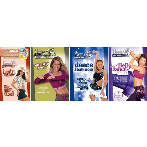 IDT CORPORATION Dance Off the Inches Fitness Bundle: Hip Hop Part  /  Dance It off Ballroom  /  Country Line Dance  /  Fat Burning Belly Dance