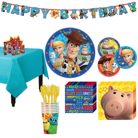Party City Toy Story 4 Tableware Party Supplies for 8 Guests - Party City H