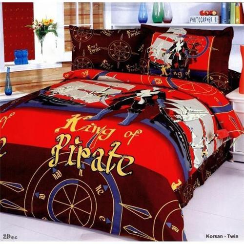 Le Vele LE40T Toddler Room Bedding Modern Twin Duvet Covet Set, Corsan