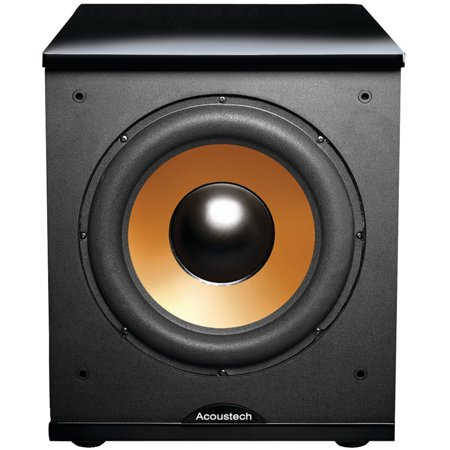 Bic America H 100Ii 12   Front Firing Powered Subwoofer With Black Lacquer Top