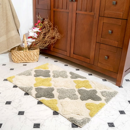 "Chesapeake Alloy Moroccan Tiles 2pc Willow Bath Rug Set (21""x34"" & 17""x24"")"