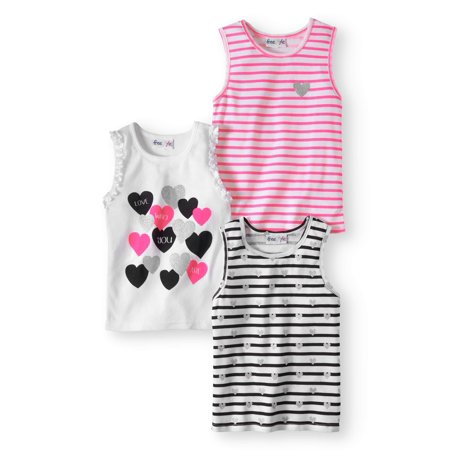 Striped and Graphic Tank Tops, 3-pack (Toddler