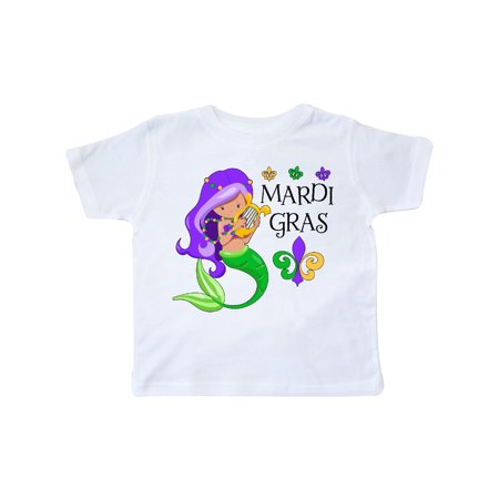 Mardi Gras mermaid with harp and beads Toddler T-Shirt](Toddler Mardi Gras Outfits)