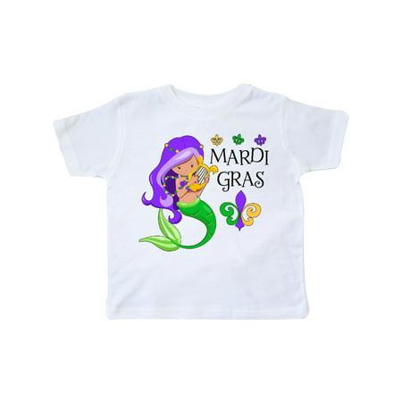 Girls At Mardi Gras (Mardi Gras mermaid with harp and beads Toddler)