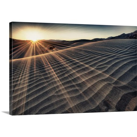 Great BIG Canvas Scott Stulberg Premium Thick-Wrap Canvas entitled The Stovepipe sand dunes at sunrise, Death Valley National Park ()